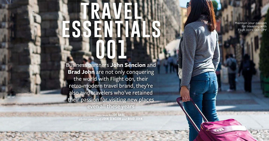 Interview of Flight 001 Founders for TravelNow Magazine (Volume One 2016, Jan-Feb issue)