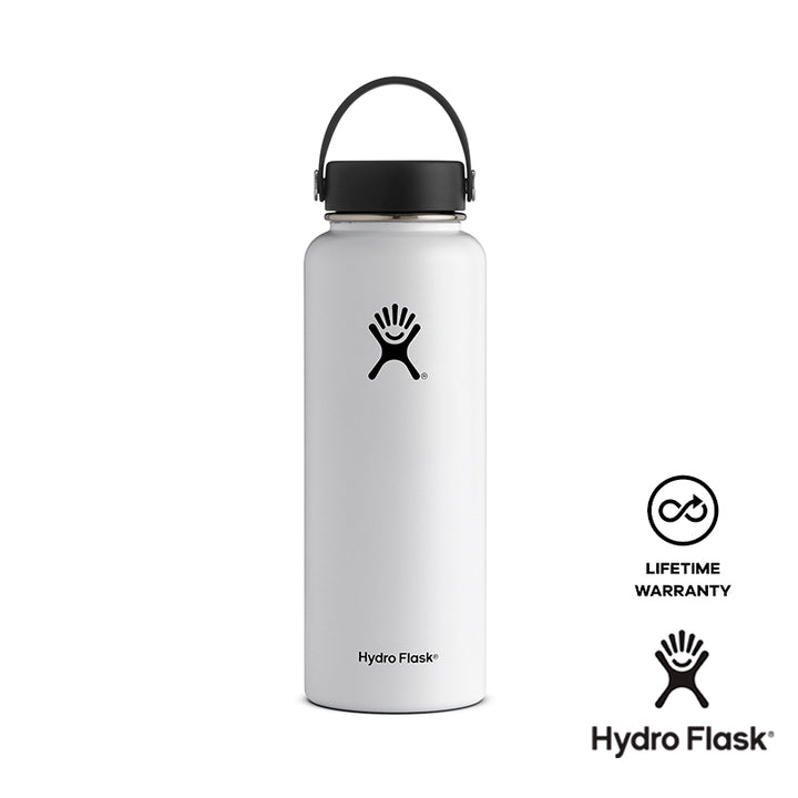 Hydro Flask 40 oz Wide Mouth w/ Flex Cap - White