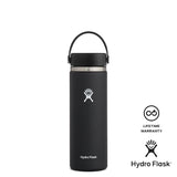 Hydro Flask 20oz Wide Mouth w/ Flex Cap 2.0 - Black