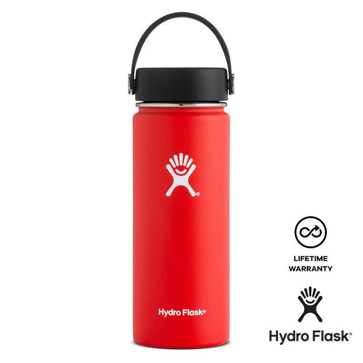 Hydro Flask - 18 oz Double Wall Vacuum Insulated Stainless Steel Sports Water Bottle Wide Mouth Lava