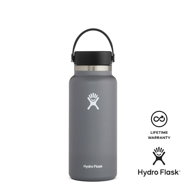 Hydro Flask 32oz Wide Mouth w/ Flex Cap 2.0 - Stone