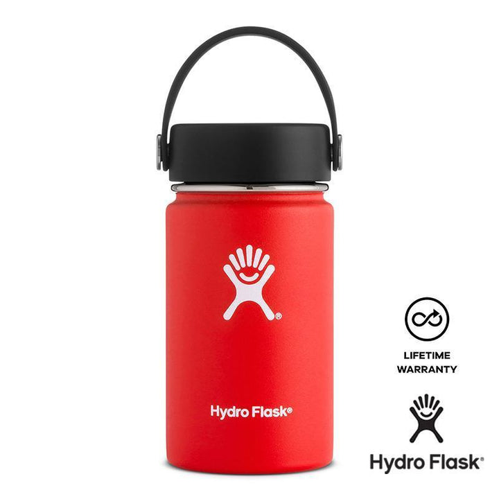 Hydro Flask - 12 oz Vacuum Insulated Stainless Steel Sports Water Bottle Wide Mouth - Lava
