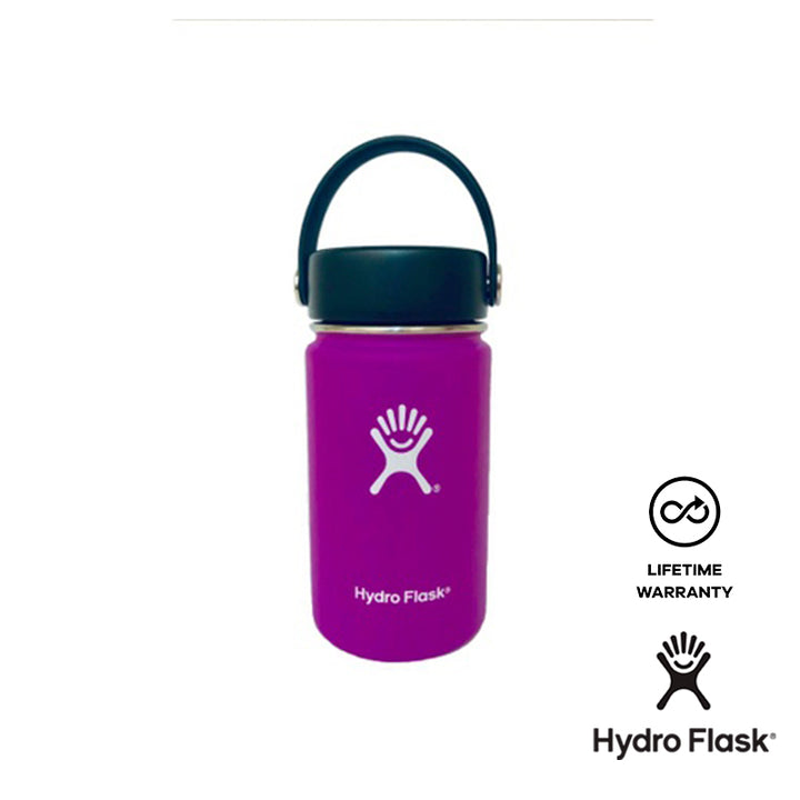 Hydro Flask 12 oz Wide Mouth w/ Flex Cap - Raspberry