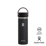 Hydro Flask 20oz Wide Mouth w/ Flex Sip Lid - Black