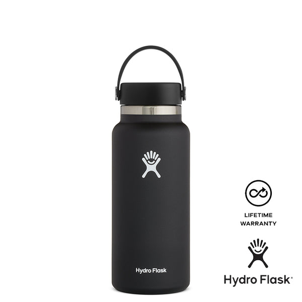 Hydro Flask 32oz Wide Mouth w/ Flex Cap 2.0 - Black