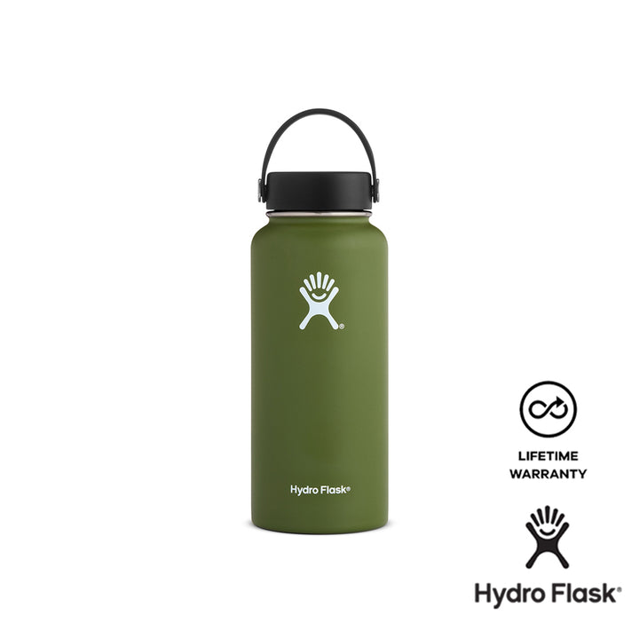 Hydro Flask 32 oz Wide Mouth w/ Flex Cap - Olive