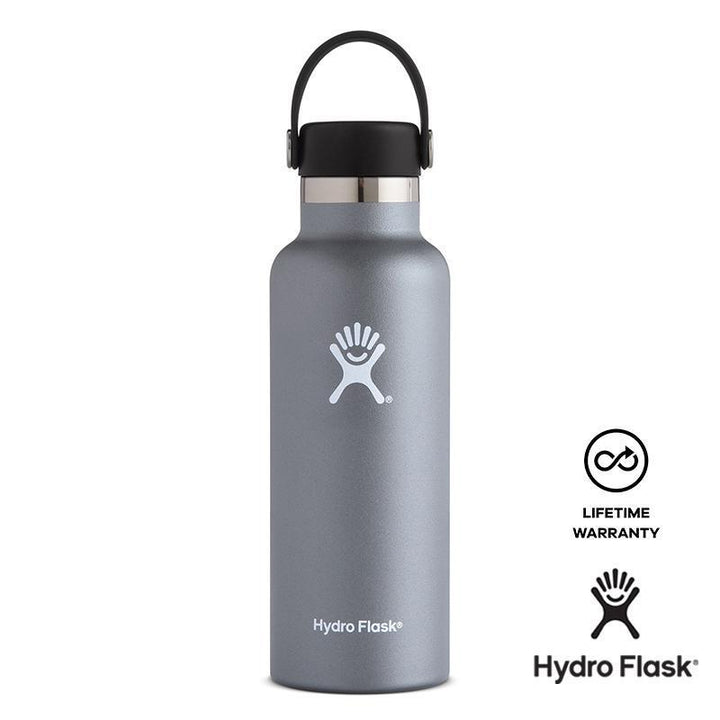 Hydro Flask - 21 oz Insulated Stainless Steel Leak Proof Sports Water Bottle Standard Mouth Graphite