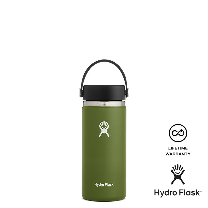 Hydro Flask 16oz Wide Mouth w/ Flex Cap 2.0 - Olive
