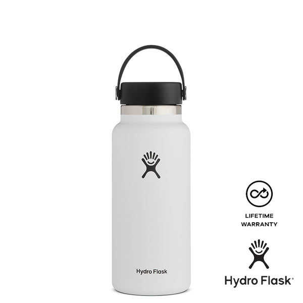 Hydro Flask 32oz Wide Mouth w/ Flex Cap 2.0 - White
