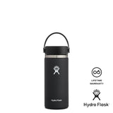 Hydro Flask 16oz Wide Mouth w/ Flex Cap 2.0 - Black