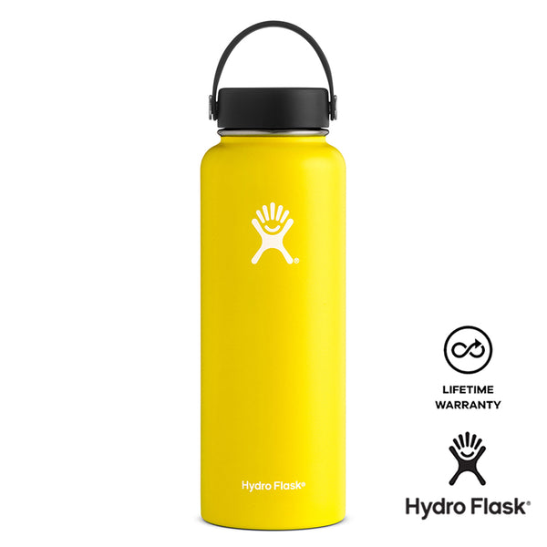 Hydro Flask 40OZ Wide Mouth w/ Flex Cap - Lemon