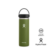 Hydro Flask 20oz Wide Mouth w/ Flex Cap 2.0 - Olive