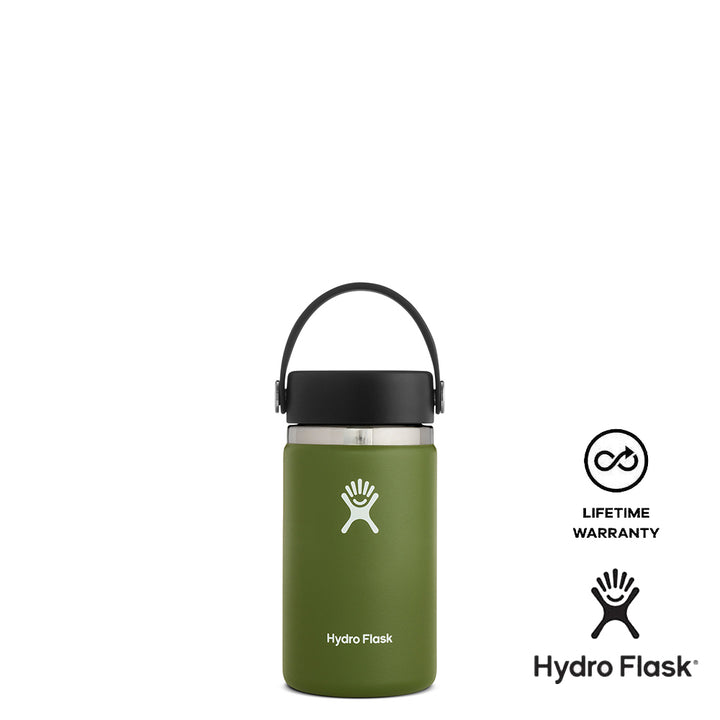Hydro Flask 12oz Wide Mouth w/ Flex Cap 2.0 - Olive
