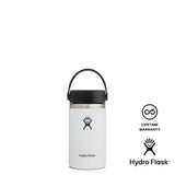Hydro Flask 12oz Wide Mouth w/ Flex Cap 2.0 - White