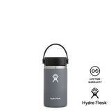 Hydro Flask 12oz Wide Mouth w/ Flex Cap 2.0 - Stone