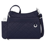 travelon anti theft boho square crossbody navy image 1