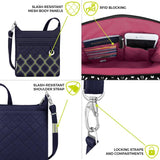 travelon anti theft boho n/s crossbody navy image 6