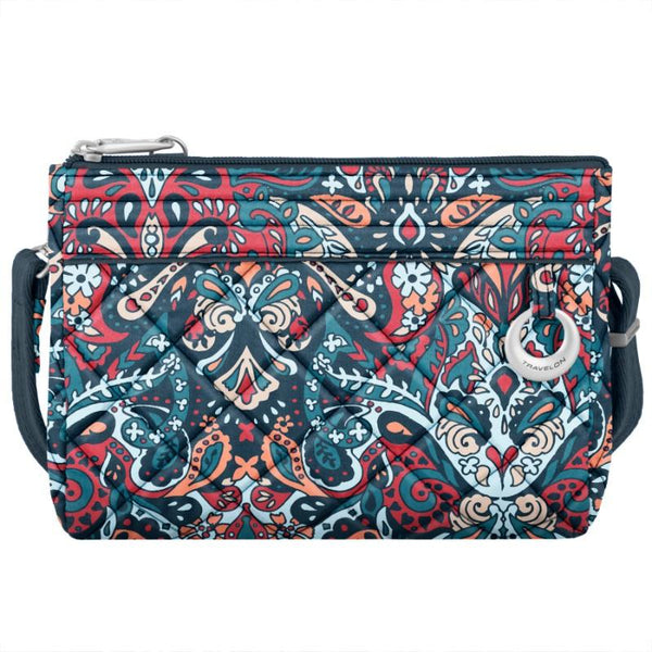 Travelon Anti-Theft Boho Convertible Crossbody Clutch - Summer Paisley