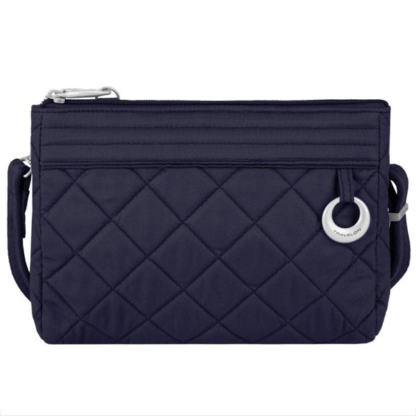 Travelon Anti-Theft Boho Convertible Crossbody Clutch - Navy