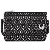 travelon anti theft boho convertible crossbody clutch geo shells image 1
