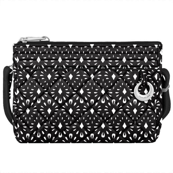 Travelon Anti-Theft Boho Convertible Crossbody Clutch - Geo Shells
