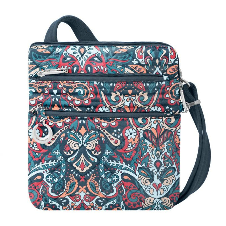 travelon anti theft boho slim bag summer paisley image 1