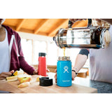 Hydro Flask - 12 oz Insulated Stainless Steel Sports Water Bottle Wide Mouth W/Flip Lid - Pacific