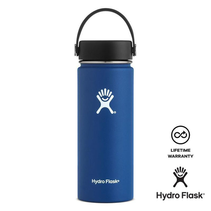 Hydro Flask - 18 oz Vacuum Insulated Stainless Steel Sports Water Bottle Wide Mouth - Cobalt