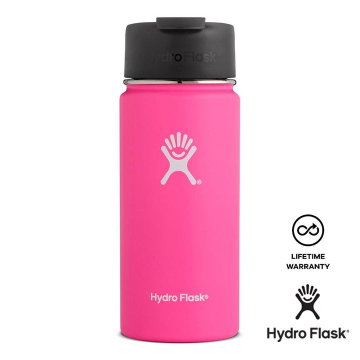 Hydro Flask - 16 oz Insulated Stainless Steel Sports Water Bottle Wide Mouth W/Flip Lid - Flamingo