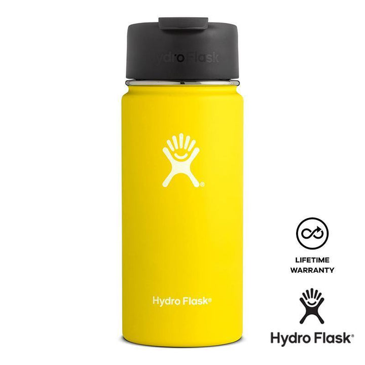 Hydro Flask 16 oz Wide Mouth w/ Flip Lid - Lemon