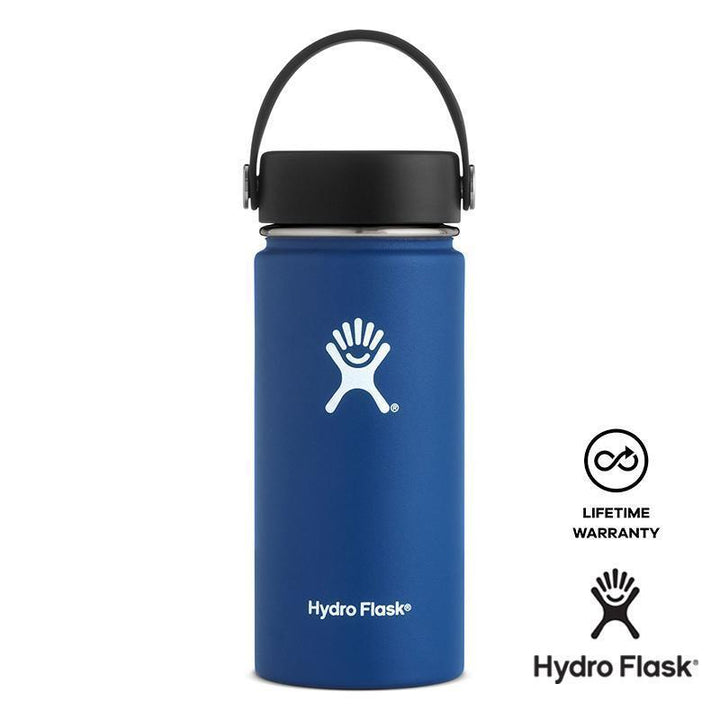 Hydro Flask - 16 oz Vacuum Insulated Stainless Steel Sports Water Bottle Wide Mouth - Blue