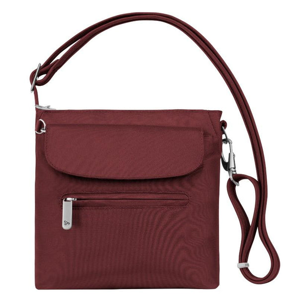 Travelon Anti-Theft Classic Mini Shoulder Bag - Cranberry