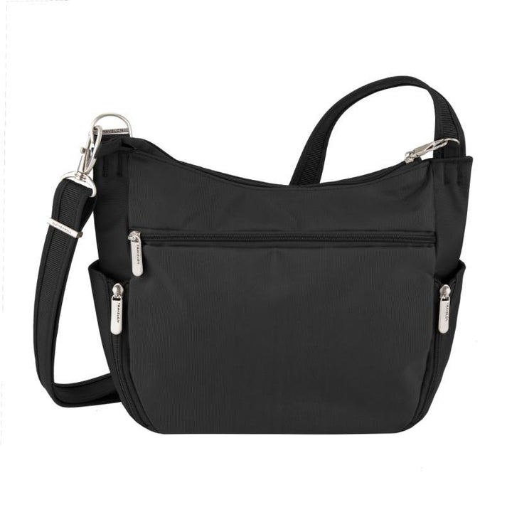 travelon anti theft classic crossbody bucket bag black image 3