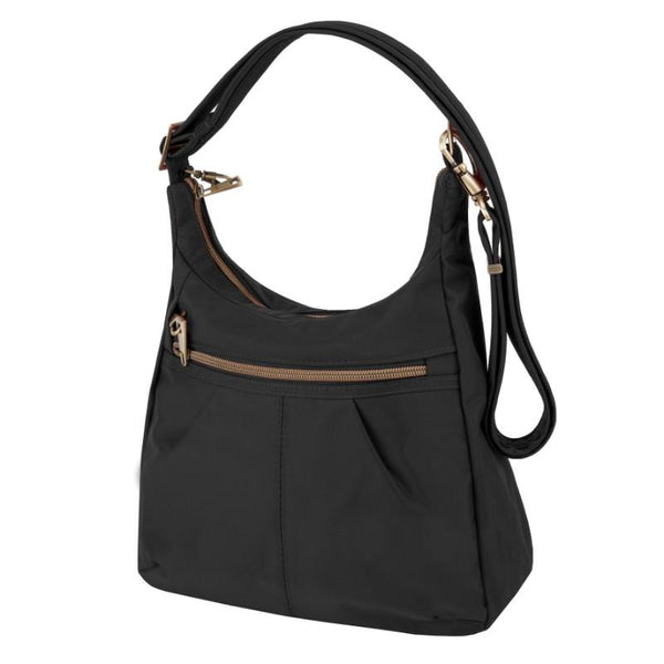 Travelon Anti-Theft Signature Top Zip Shoulder Bag - Black