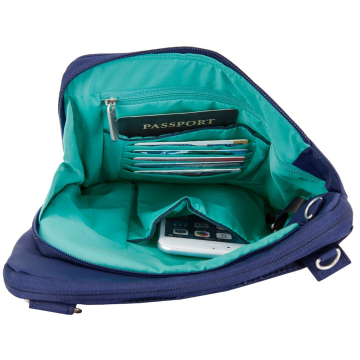 Travelon Anti-Theft Classic Light Slim Bag - Lush Blue