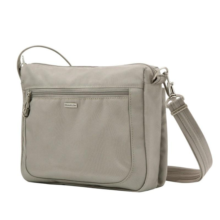 travelon anti theft classic small e/w crossbody stone image 2
