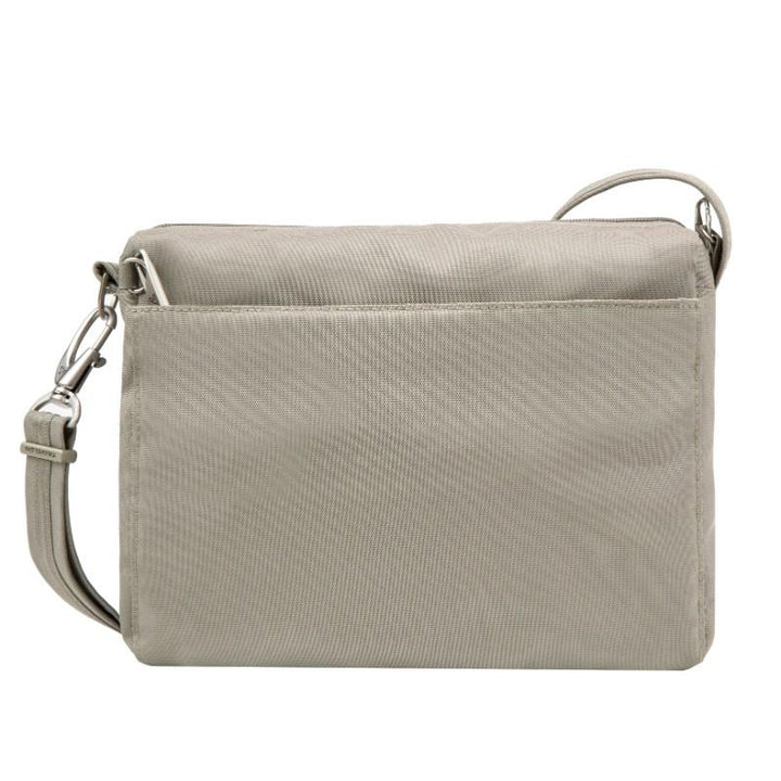 travelon anti theft classic small e/w crossbody stone image 3