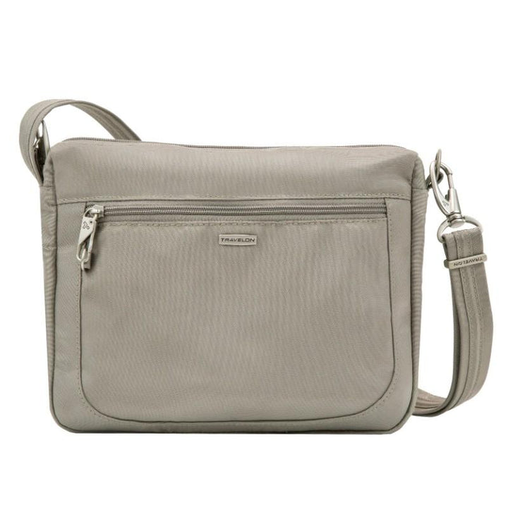 travelon anti theft classic small e/w crossbody stone image 1