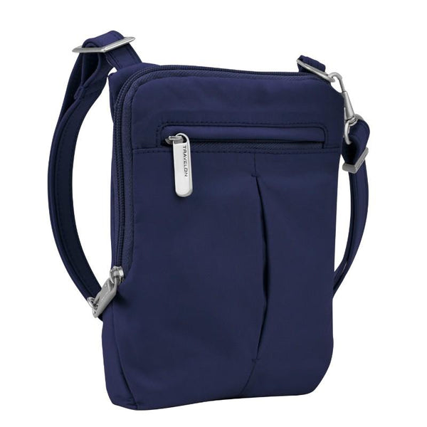 Travelon Anti-Theft Classic Light Slim Mini Crossbody - Lush Blue