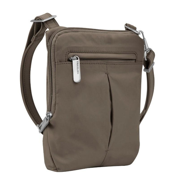 Travelon Anti-Theft Classic Light Slim Mini Crossbody - Mocha