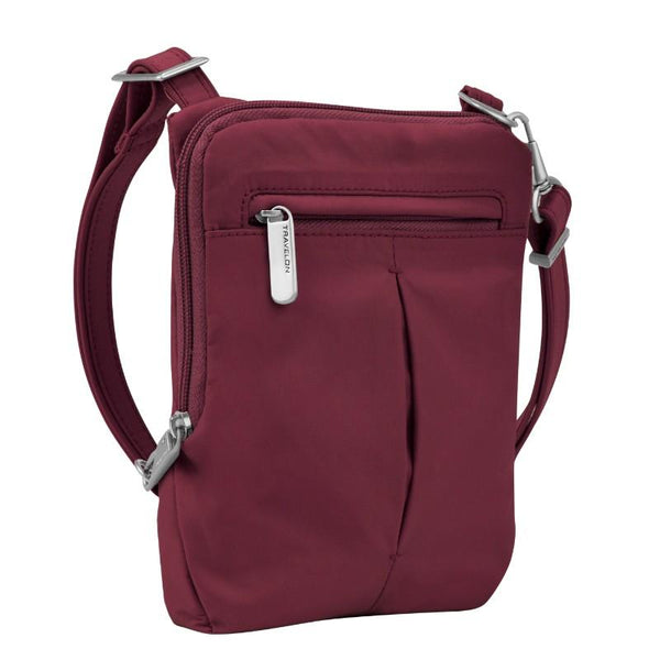 Travelon Anti-Theft Classic Light Slim Mini Crossbody - Berry