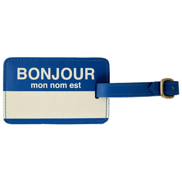 Flight 001  Bonjour Lug Tag - Blue