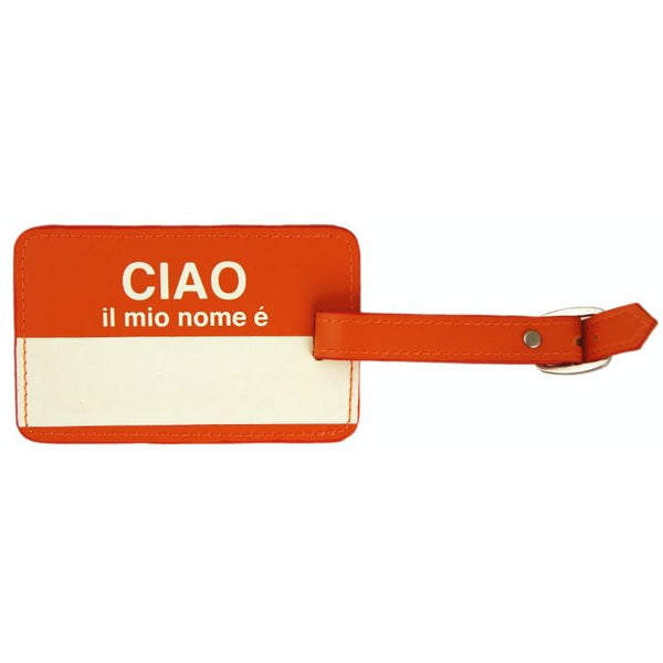Flight 001  Ciao Lug Tag - Orange