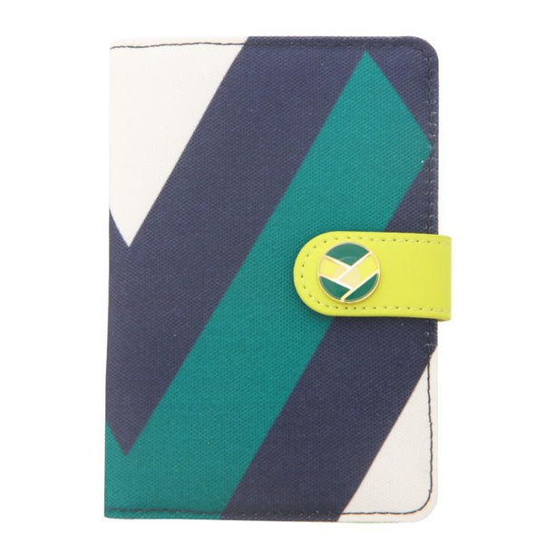 Flight 001 Ste Passport Cover - Runway Prt/Celery