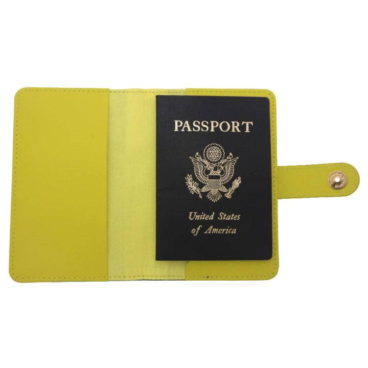 Flight 001 Ste Passport Cover - Runway Prt/Celery 2