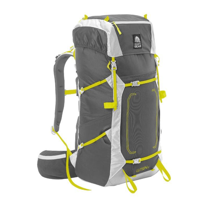 GRANITE GEAR LUTSEN 55L PACK-SM MD FLINT CHROMIUM NEOLIME IMAGE  1
