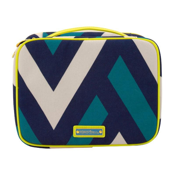 Flight 001 Ste-Runway - Cosmetic Case - Runway Print/Celery