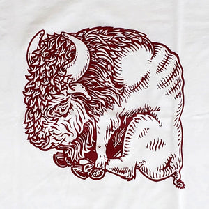 T-Shirt: Bison Hand-drawn