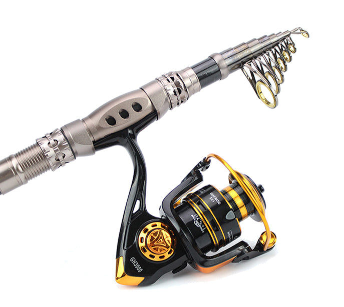 2.4 Metre 'The PREDATOR' Telescopic Rod/Reel  Combo With FREE Deluxe Carry Bag