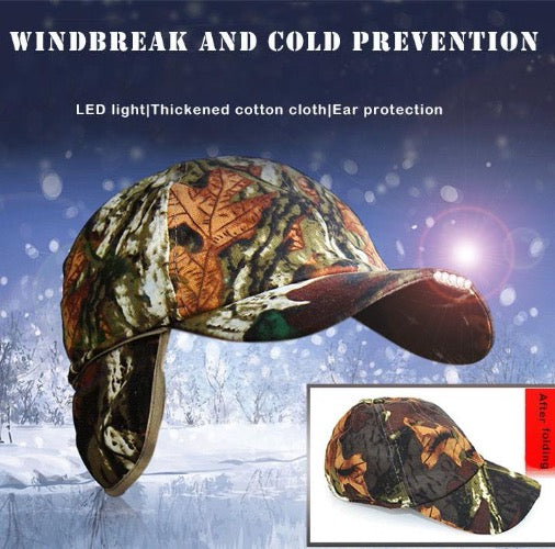 Camouflage Baseball  Fishing Cap with  LED lights